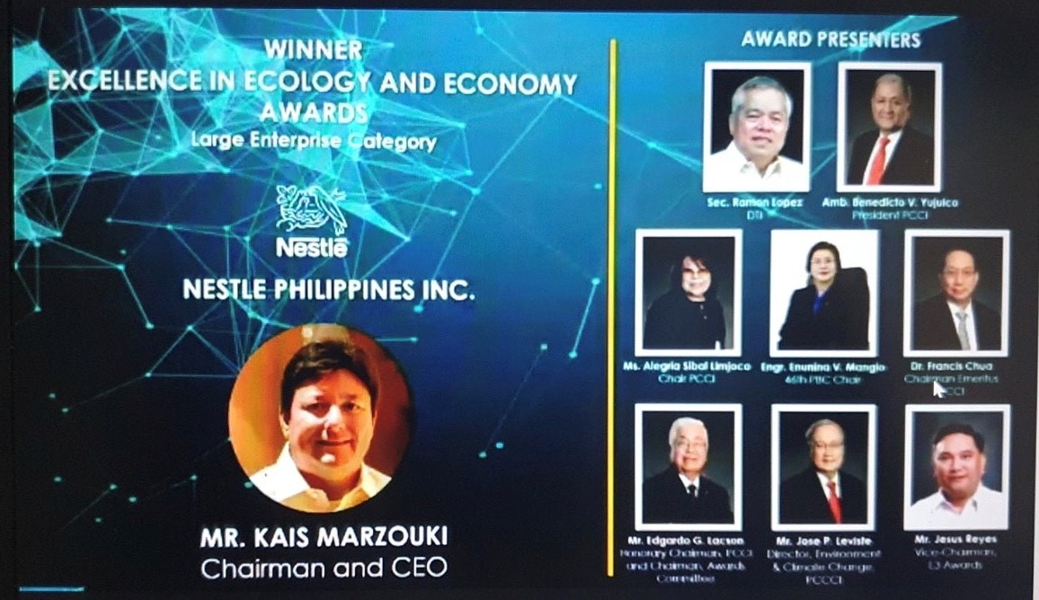 PCCI Excellence in Economy and Ecology Award