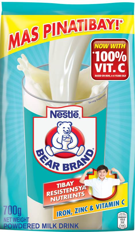nestle philippines Bear brand is pure ready to drink milk, without the addition of any preservatives, made from 100% high-quality sterilized dairy milk.